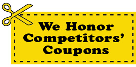 We honor Competitiors Coupons